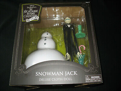 Diamond Select Nightmare Before Christmas Snowman Jack Deluxe Cloth Doll