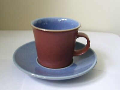 DENBY - JUICE- 1 X COFFEE/ESPRESSO CUP AND SAUCER - VERY GOOD USED CONDITION*a