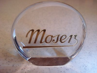 MOSER DEALER DISPLAY PIECE SIGNED AND PERFECT