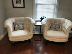 Off white pier 1 chairs