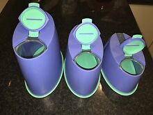 Tupperware storage container set of 3 Redwood Park Tea Tree Gully Area Preview