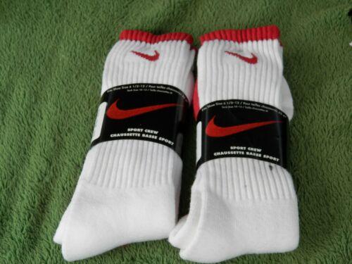 Vintage NOS Nike Swoosh Sport Crew Socks Lot Of 2 Pairs Estate Find