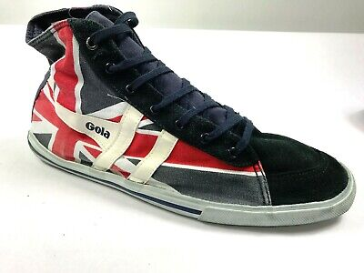 ***NEW Gola Quota High Union Jack*** Men`s Canvas Trainer Navy/White/Red