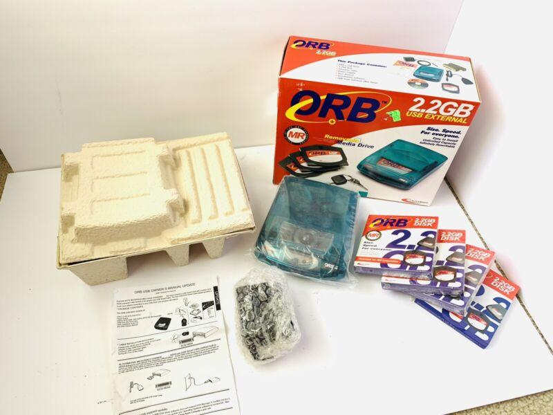 ORB CASTLEWOOD 2.2GB  USB External Hard Drive 4 Sealed 2.2GB Disks *Description