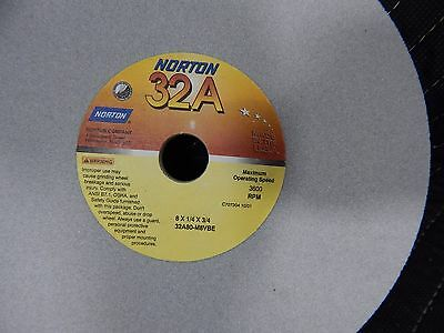 Norton Grinding Wheel 32a80-m8vbe 8x14x34 3600 Rpm 32a Made In Usa 8 Inch
