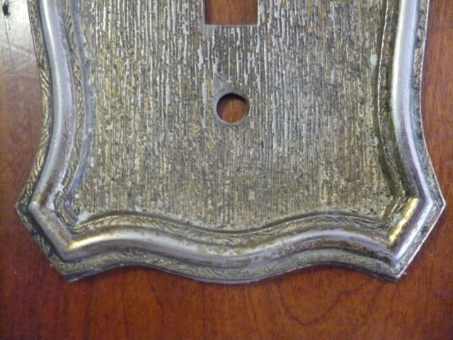 Ornate Vintage Victorian American Tack & Hd Single Light Switch Plate Cover 1968