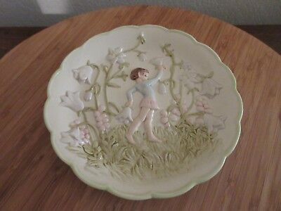 ANDREA BY SADEK FAIRY PLATE FLORAL DESIGN CERAMIC WALL HANGING PLATE J. WILLFRED for sale  Rio Rancho