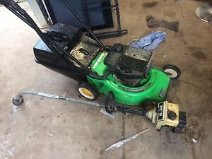2 stroke mower and catcher plus whipper snipper vgc $99 Eatons Hill Pine Rivers Area Preview