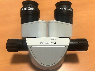 Carl Zeiss 45 Deg Inclined F170 Binocular W12.5x Eyepiece For Opmi Microscope