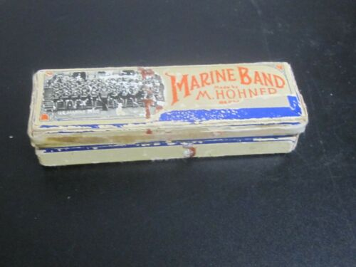 Vintage Hohner Marine Band Harmonica-Key of C/Germany/with Instructions,clean