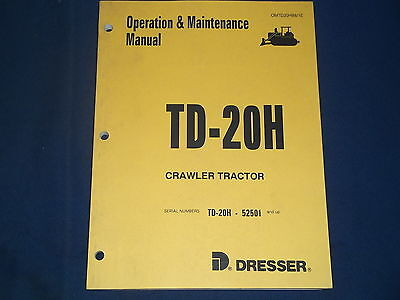 Komatsu Dresser Td-20h Crawler Tractor Dozer Operation Maintenance Book Manual