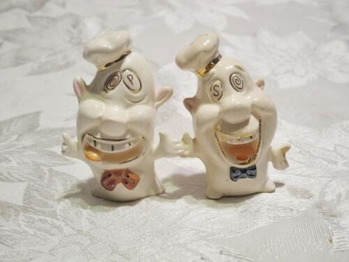 Vintage Japan Art Deco Head Salt & Pepper Shakers
