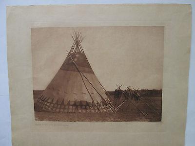 """Lodge of the Horn Society - Blood/Original Edward S. Curtis Portfolio Print"