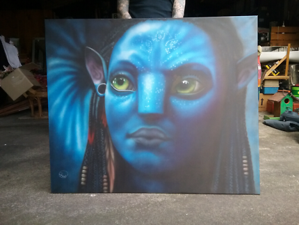 Avatar airbrush canvas print  Doveton Casey Area Preview