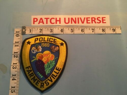 FARMERSVILLE  CALIFORNIA  POLICE  SHOULDER PATCH  M123