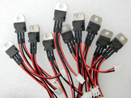 10 pcs 7805 L7805 LM7805 +5V voltage regulator wire assembly