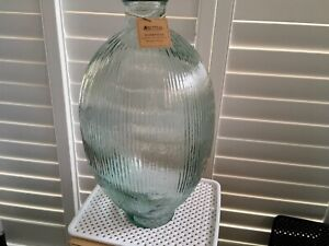 Very large decorative recycled glass bottle Maxwell & Williams