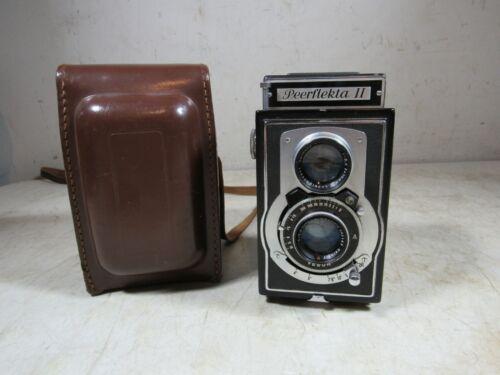 Vintage/Antique Peerflekta II Camera W/Case Germany USSR Occupied