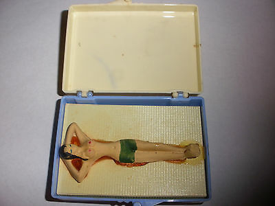 Rare vintage novelty fisherman`s dream catch nude woman in gag box