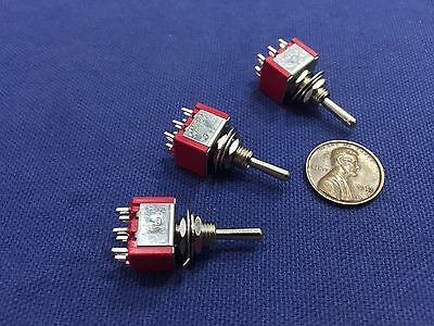 3 Pieces Momentary Mini Toggle Switch On-off-on 6 Pin 12vdc Dpdt 14 A5