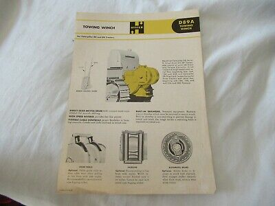Hyster D89a Towing Winch Specification Sheet Brochure
