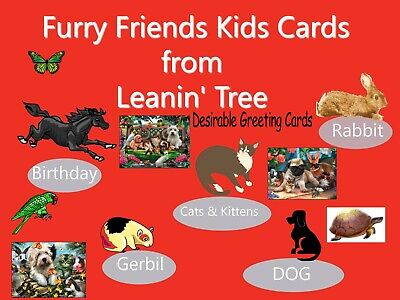 Leanin' Tree Furry Friends Kids Animal Greeting Cards for all