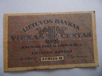 Lithuania Lettland 1 Centas 1922
