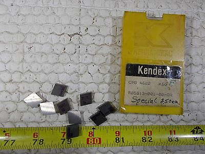 New Kennametal Cpg 4622 Grade K68 Carbide Indexable Insert Lot Of 9 New Inserts