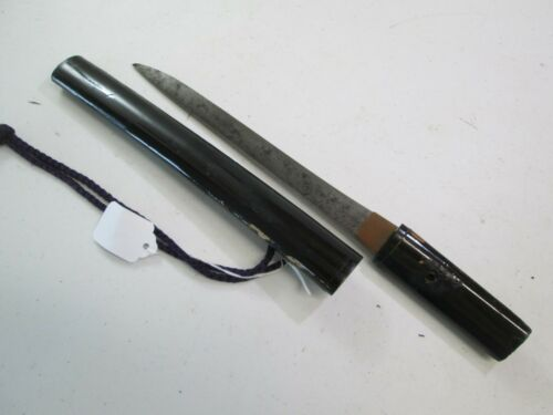 OLD KOTO SAMURAI JAPANESE DAGGER TANTO SWORD KNIFE SIGNED KANEKUNI #32/36