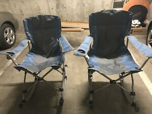 Folding rocking chairs