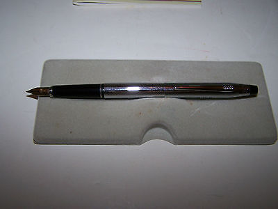 CROSS CENTURY CHROME FOUNTAIN PEN  MEDIUM  PT & CONVERTER  MADE IN  USA   3506