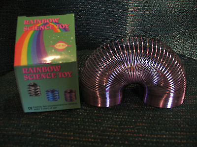Rainbow Science Metal Toy Metallic Colored (slinky type novelty toy) New in box