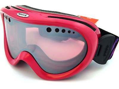 87d1e5bb99c BOLLE ladies NEBULA small fit Snow Ski Goggles Pink Stripes  Vermillon Gun  20985