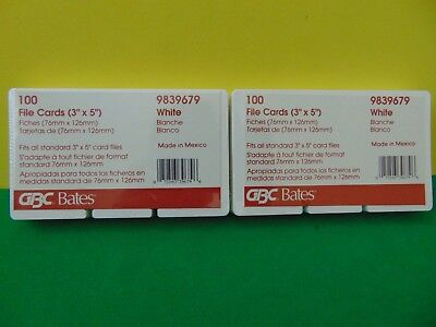 200 Gbc Bates For Rolodex Rotary Refill Cards 3 X 5 New Sealed