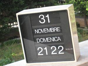 Orologio-Fratelli-Solari-Pesariis-Udine-mod-Solar-FUNZIONANTE-BIANCO-ANNI-70