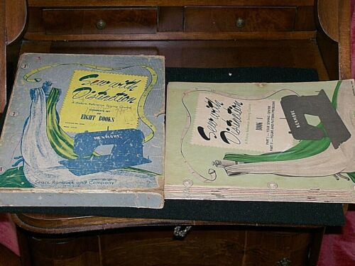 """1953 """"Sew with Distinction"""" Kenmore/Sears 8-Book Sewing Course Set / Pre-Owned"""