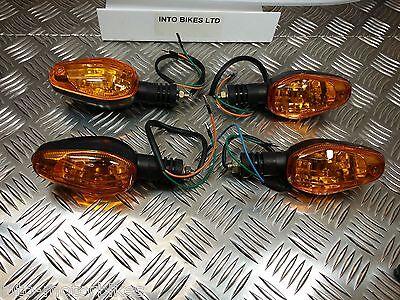 SUZUKI BANDIT GSF600  BIKE INDICATORS BLACK BODY x 4 FULL SET BULB NOT LED