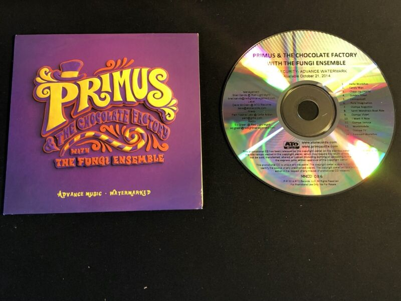 PRIMUS THE CHOCOLATE FACTORY 2014 PROMO CD - $20.00