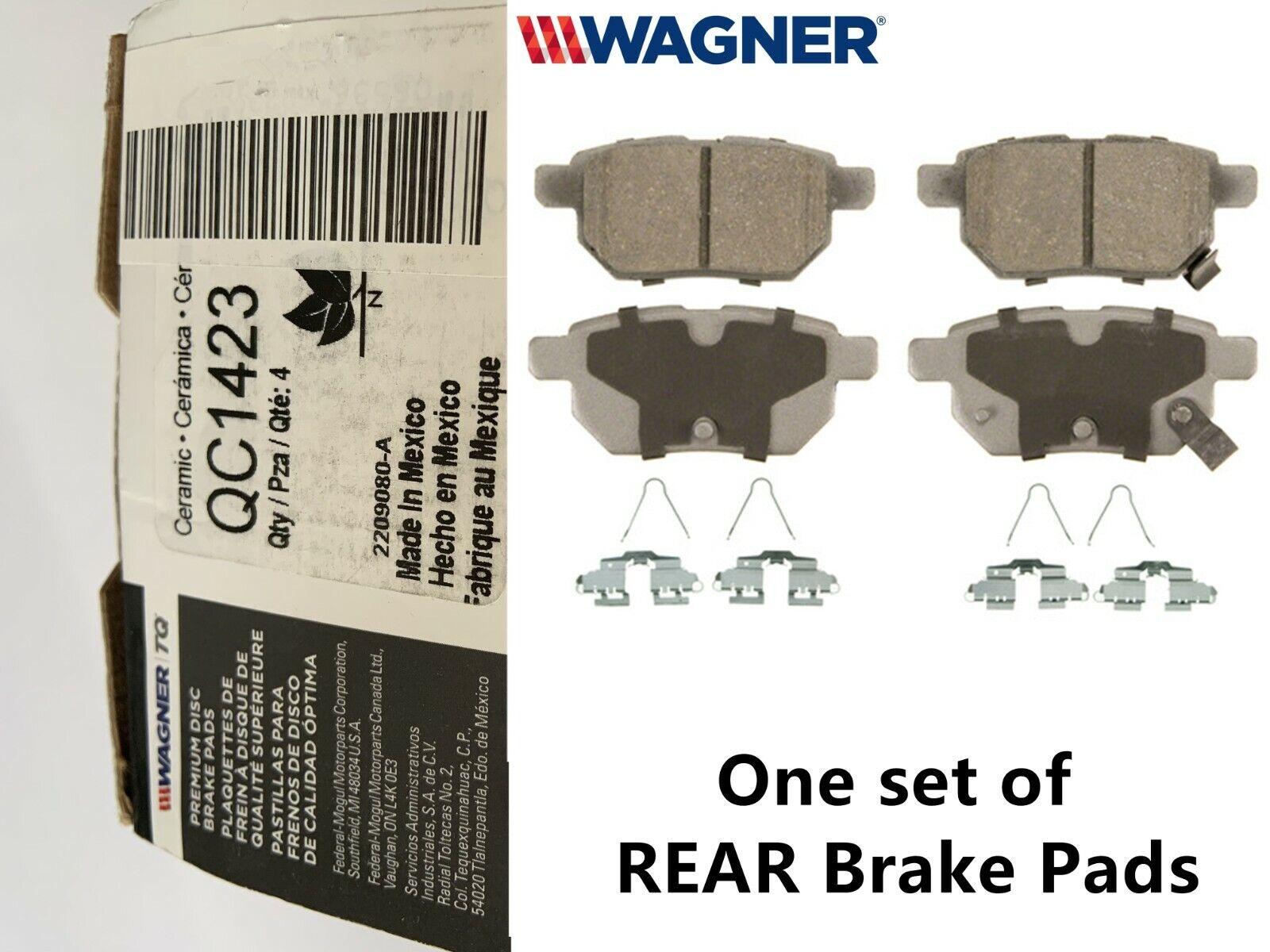 Wagner REAR Ceramic Disc Brake Pad for 2009 2010 Pontiac Vibe, Set of 4, QC1423