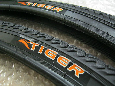 2 x 26 Inch TIGER Cycle Tyre Tyres 26 x 1.50 All Season Treaded Hybrid Town City