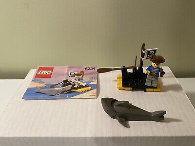 Authentic LEGO 6234 Pirates Renegade's Raft Complete w/Instructions Vintage 1991