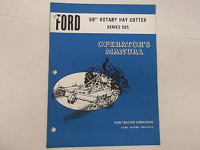 Ford Tractor 60 Inch Rotary Hay Cutter Series 505 Operators Manual