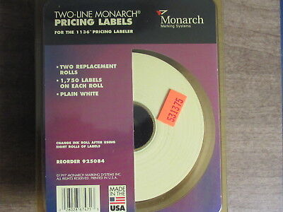 Two-line Monarch Pricing Labels For The 1136 Pricing Labeler