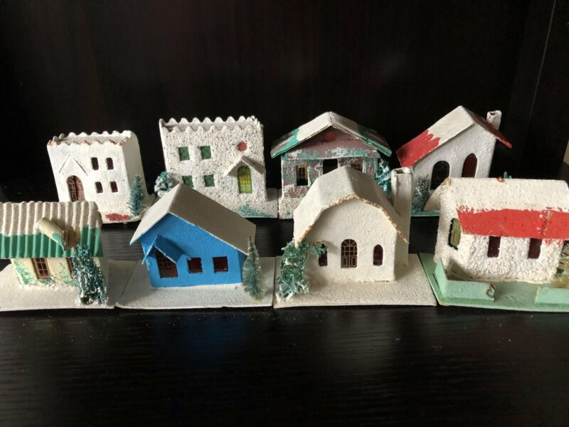 Vintage Putz Houses-Lot of Eight (Free Shipping!)