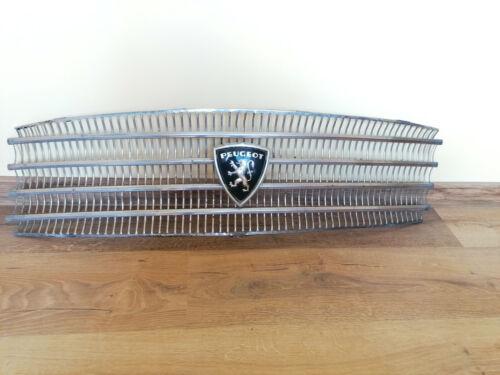 Peugeot 404 front grill emblem vintage logo old metal plastic 60s.
