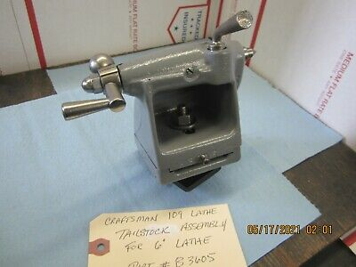 Craftsman 6 109 Lathe Tailstock Assembly B3605