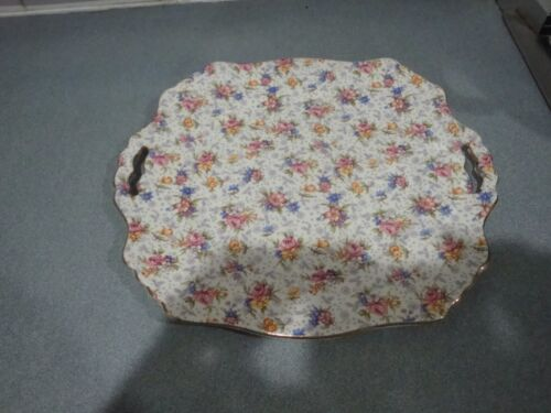 VINTAGE ROYAL WINTON GRIMWADES ELEANOR CHINTZ PASTRY CAKE PLATTER ENGLAND