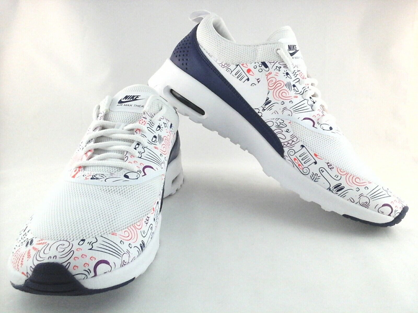 Details about NEW Nike Air Max Thea Womens Print White Dark Purple 599408 104 US 11.5 UK 9