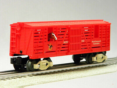 LIONEL BUDWEISER CLYDESDALE HORSE TRANSPORT CAR beer freight bud 6-84754-HT NEW Lionel Car Transporter