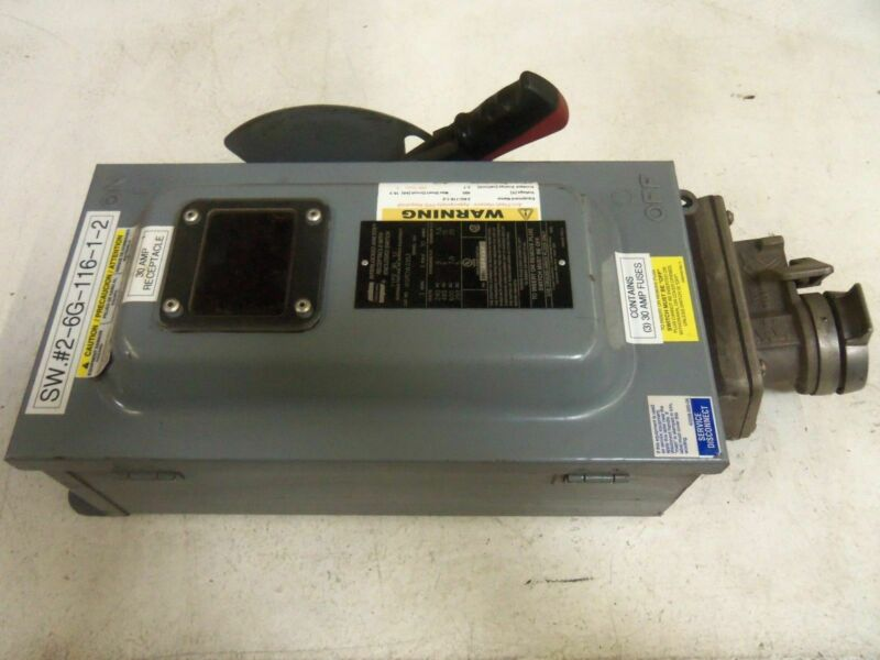 CROUSE-HINDS WSRDW3352 SAFETY DISCONNECT SWITCH *USED*